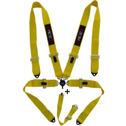 """5 point safety belts RACES 3"""" (76mm), yellow"""
