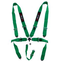 """5 point safety belts RACES 3"""" (76mm), green"""