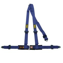 3 point safety belts OMP, blue