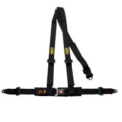 3 point safety belts OMP, black