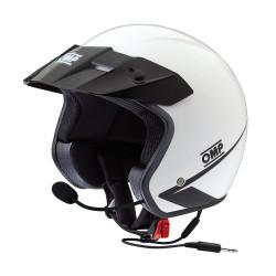 OMP Star Intercom Helmet - white