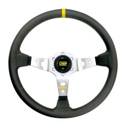 3 spokes steering wheel OMP Corsica, 350mm Leather, 95mm
