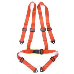 "4 point safety belts 2"" (50mm), red"