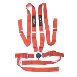 "4 point safety belts RACES 2"" (50mm), red"