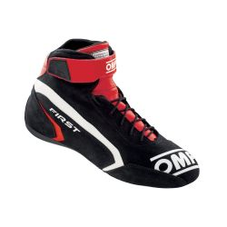 FIA race shoes OMP FIRST black/red