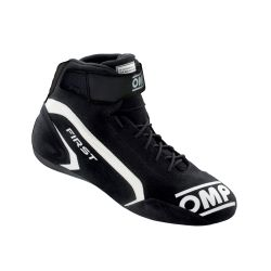 FIA race shoes OMP FIRST black/white