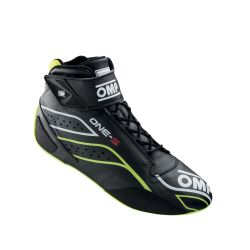 FIA race shoes OMP ONE-S black/fluo yellow