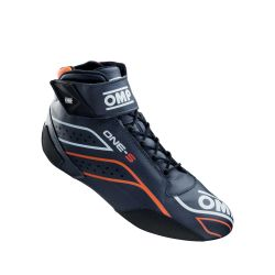 FIA race shoes OMP ONE-S blue/fluo orange