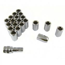 Set of imbus lug nuts + key, 20pcs, M12x1,5
