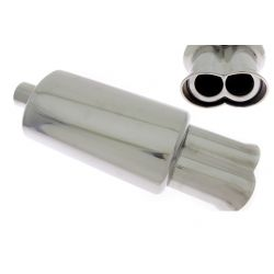 "Muffler RACES 13, inlet 2,5"" (63mm)"