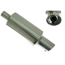 "Muffler RACES 30, inlet 2,5"" (63mm)"