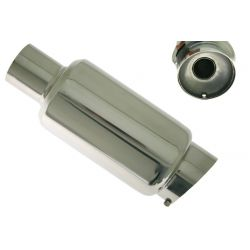 """Muffler RACES 32, inlet/outlet 2,5"""" (63mm)"""