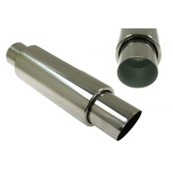 "Muffler RACES 38, inlet 3"" (76mm)"