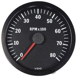 VDO gauge tachometer 100mm to 8000ot/min - cocpit vision series