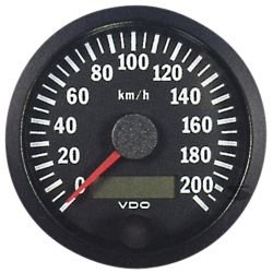 VDO gauge tachometer 80mm 0-200km/h - cockpit vision series