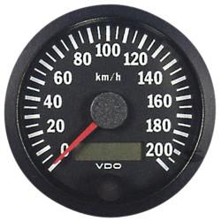 VDO gauge tachometer 80mm 0-200km/h - cocpit vision series