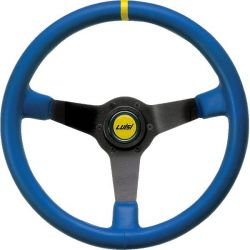 Steering wheel Luisi Mirage Corsa, 350mm, leather, 75mm , deep dish