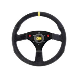 3 spokes steering wheel OMP 320 ALU SP, 320mm, Flat