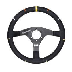 3 spokes steering wheel OMP RECCE, 350mm suede, 95mm