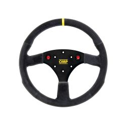 3 spokes steering wheel OMP 320 ALU S, 320mm, Flat