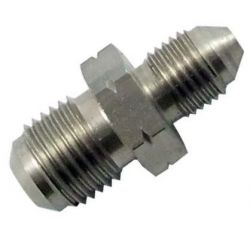 Straight adapter Brake fitting AN3, stainless steel, male