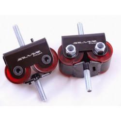 SILVER PROJECT SOLID ENGINE MOTOR MOUNTS fit Chevrolet LS1 LS2 LS3 LS6 LS7 LS9 Corvette
