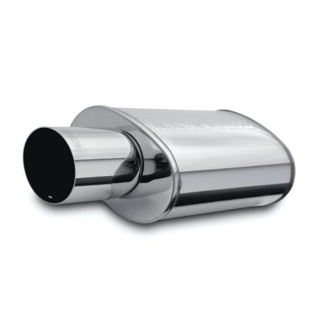 Single wall - round rolled MagnaFlow Stainless muffler 14834 | races-shop.com