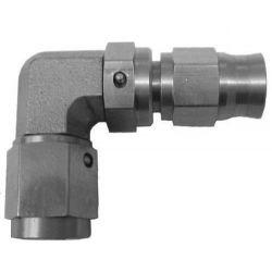 Brake fitting AN3, stainless steel, 90° female