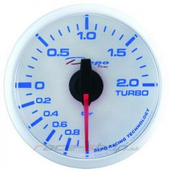DEPO racing gauge electronic pressure turbocharger - Super white series