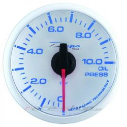 DEPO racing gauge Oil pressure - Super white series