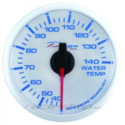 DEPO racing gauge Water temp - Super white series