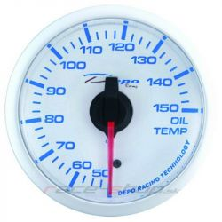 DEPO racing gauge Oil temperature - Super white series
