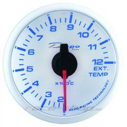 DEPO racing gauge Exhaust gas temp - Super white series
