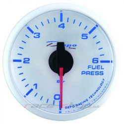DEPO racing gauge Fuel pressure - Super white series