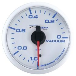 DEPO racing gauge Vacuum - Super white series