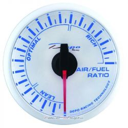 DEPO racing gauge A/F Ratio - Super white series