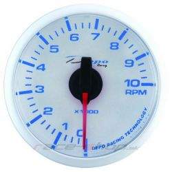 DEPO racing gauge Tachometer - Super white series