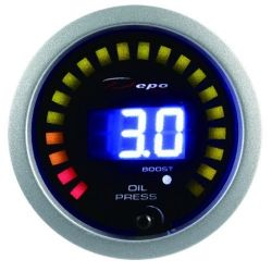 DEPO racing gauge 2in1 Oil pressure + boost Digital combo series